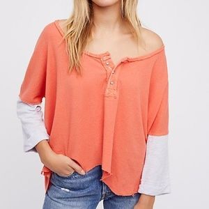 Free People Star Henley Top We The Free Coral